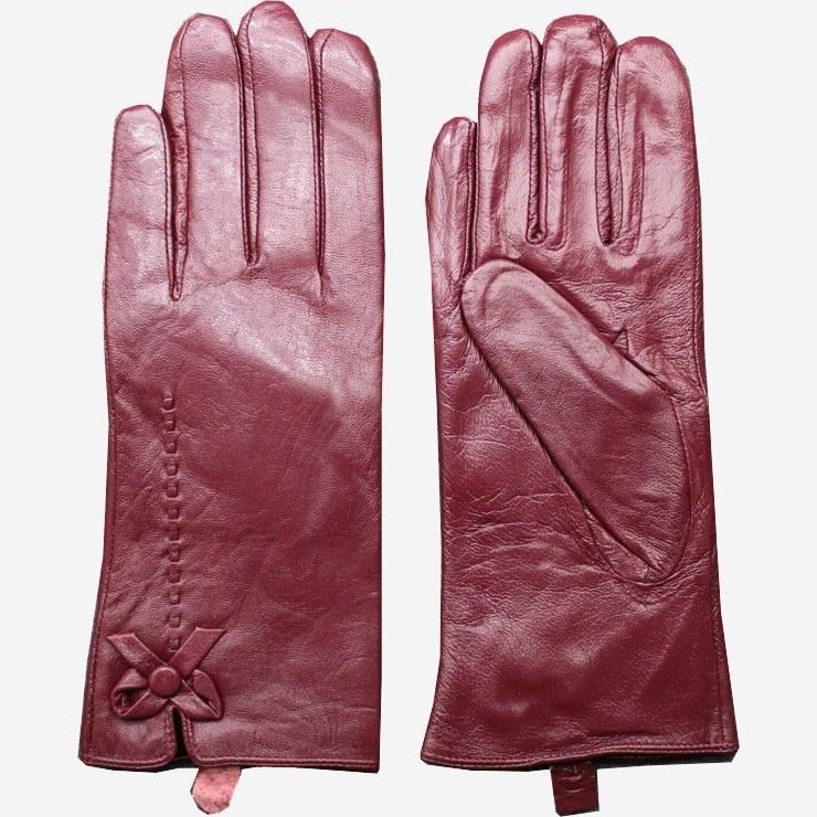 دستکش زنانه چرم آرا مدل g001