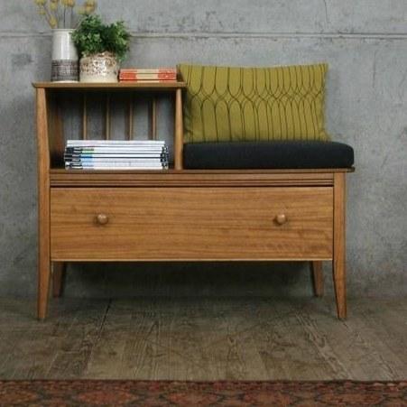تصویر میز تلفن چوبی جنس نراد