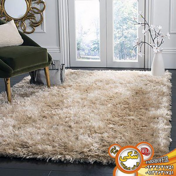 تصویر فرش شگی ریشه بلند