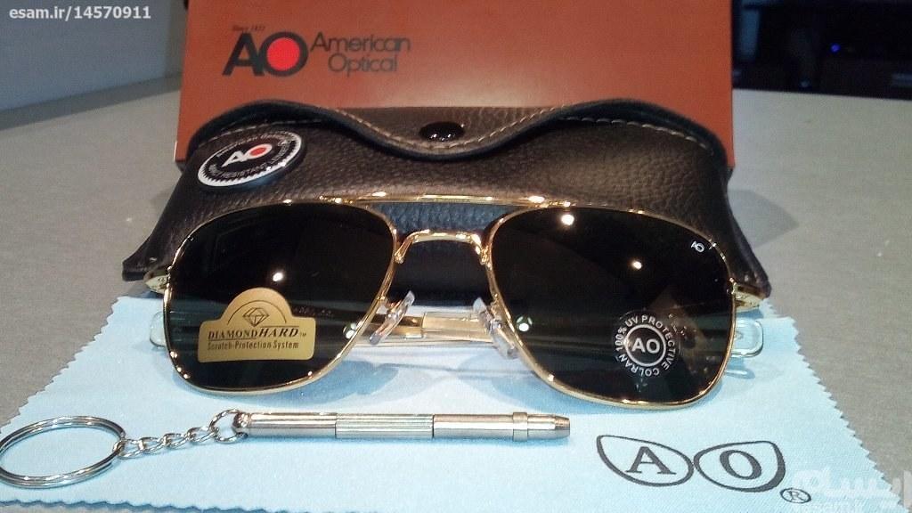 عینک خلبانی (AO)  شیشه سنگی