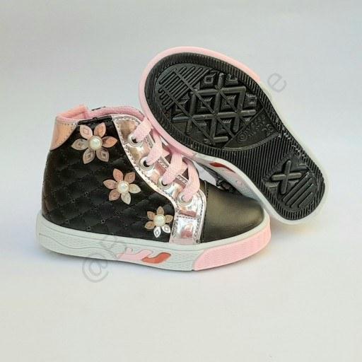 کفش نیم بوت دخترانه مدل زیپ بغل مشکی |