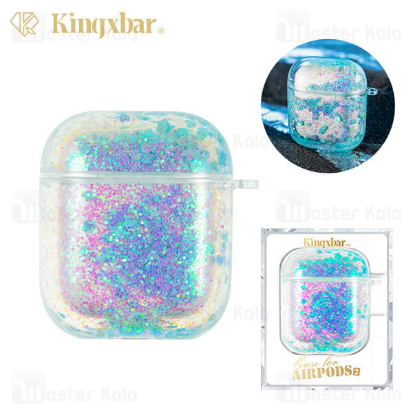 کاور آکواریومی ایرپاد Apple Airpods 1 / 2 Kingxbar Swarovski Galaxy Series Aqua