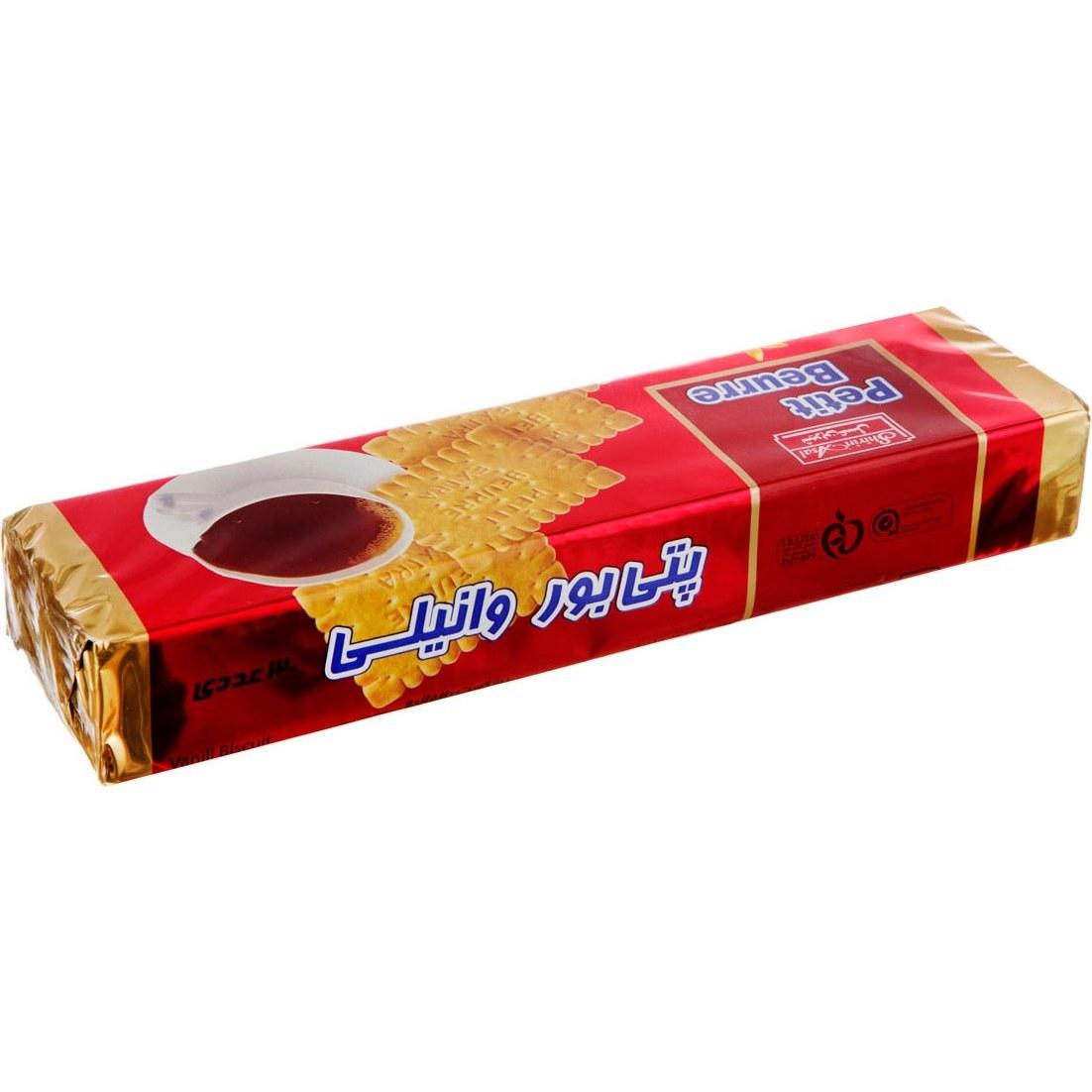 تصویر بیسکویت پتی بور وانیل 125 گرمی شیرینعسل