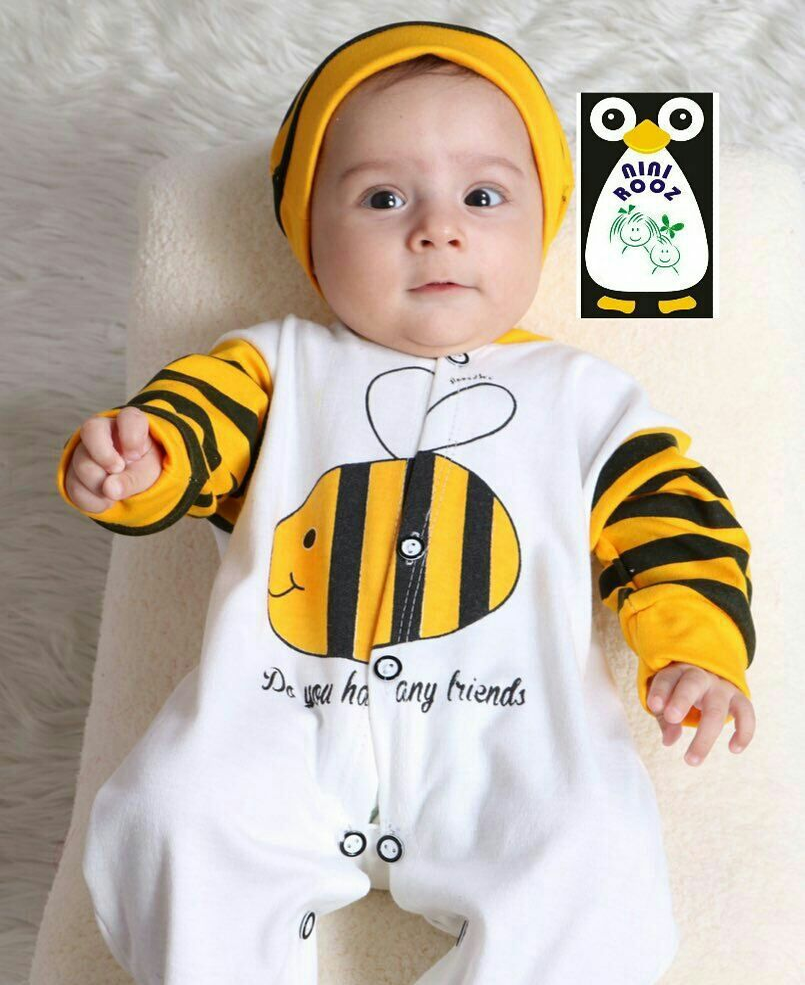 سرهمی جورابدار با کلاه مدل زنبوری