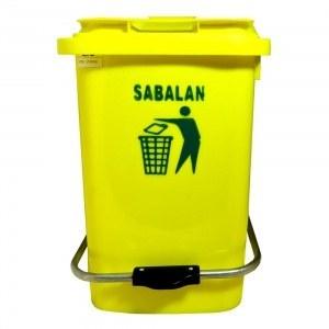 تصویر سطل زباله 40 لیتری پدالی سبلان