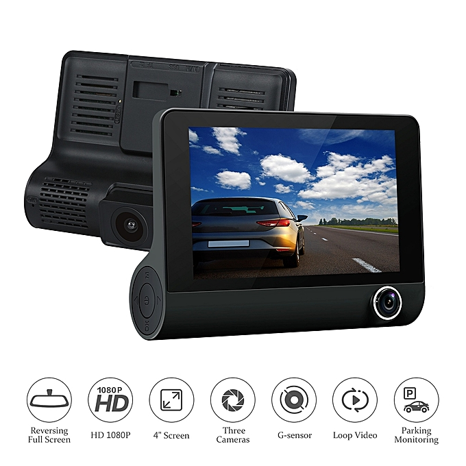 دوربین سه لنز داخل خودرو 3Lens Car DVR Camera