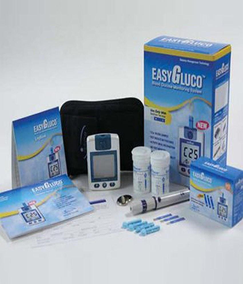 دستگاه تست قند خون ایزی گلوکو Easy Gluco همراه با 50 نوار |