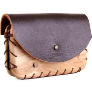 کیف کارت چرم و چوب مدل WL |