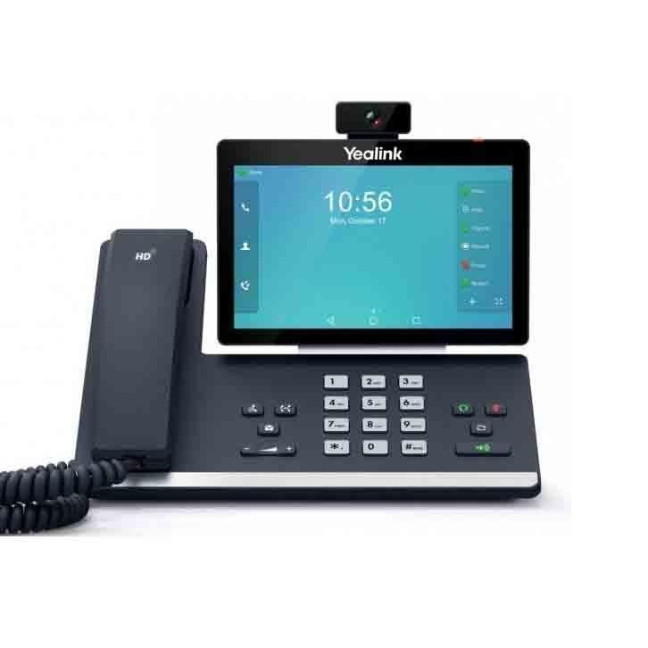 تصویر گوشی تلفن ثابت YeaLink تحت شبکه مدل SIP-T58V YeaLink IP phone SIP-T58V