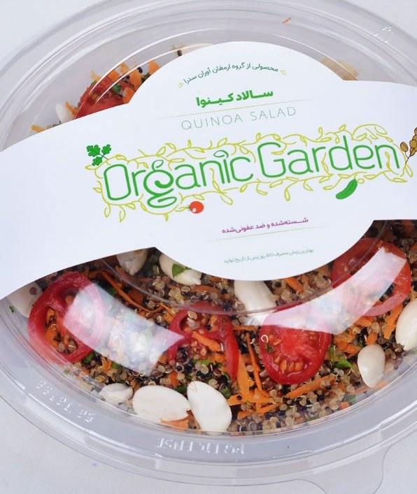 سالاد کینوا و بادام ارگانیک 400 گرمی باغ ارگانیک  