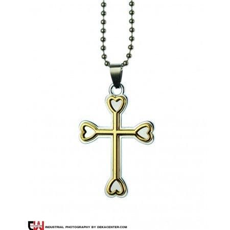 گردنبند صلیب استیل مدل شاهرو |
