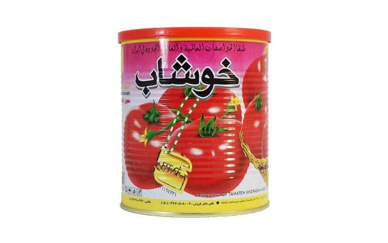 تصویر رب گوجه فرنگی خوشاب 800 گرمی
