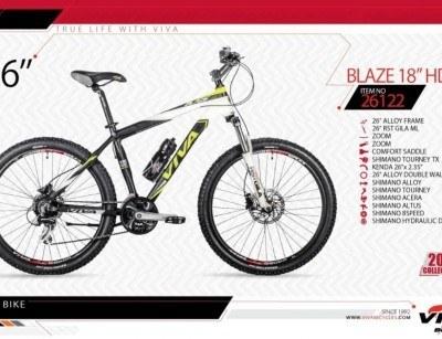 عکس دوچرخه کوهستان ویوا مدل بلیز کد 26122 سایز 26 -  VIVA BLAZE18 HD - 2019 collection با ارسال رایگان  دوچرخه-کوهستان-ویوا-مدل-بلیز-کد-26122-سایز-26-viva-blaze18-hd-2019-collection-با-ارسال-رایگان