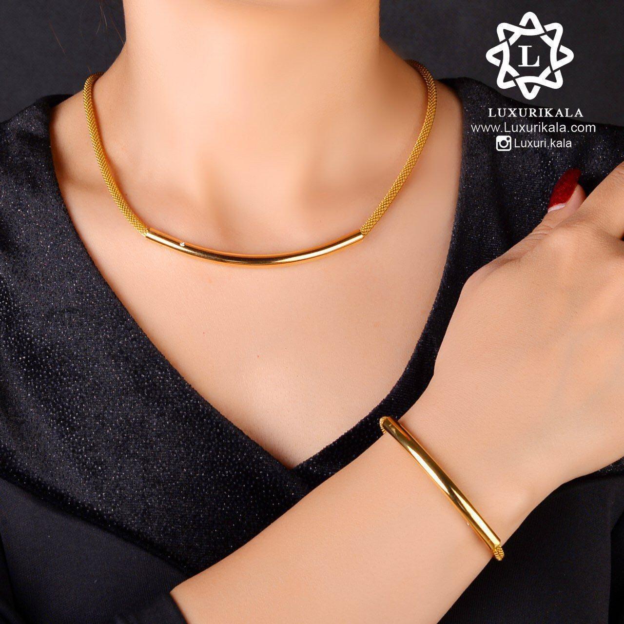 عکس ست گردنبند و دستبند  ست-گردنبند-و-دستبند