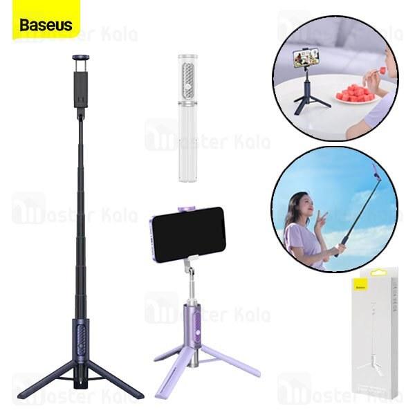 تصویر مونوپاد و سه پایه شاتر دار بیسوس Baseus Traveler Bluetooth Tripod Selfie Stick ZPBL000002
