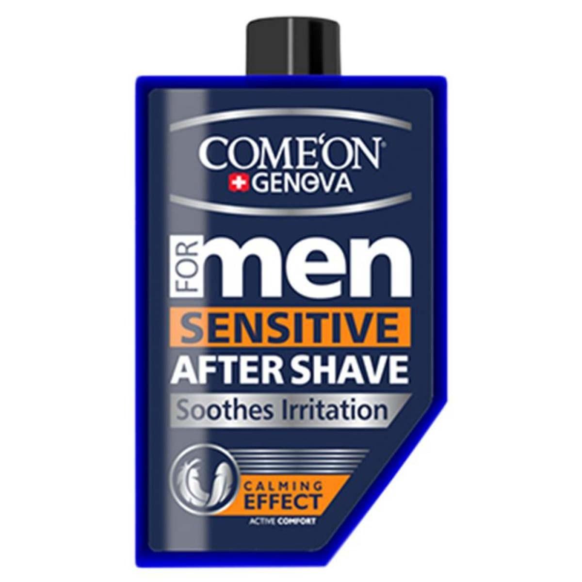 تصویر ژل اصلاح ضد حساسیت کامان مدل Sensitive  Come On Sensitive After Shave For Men 260ml