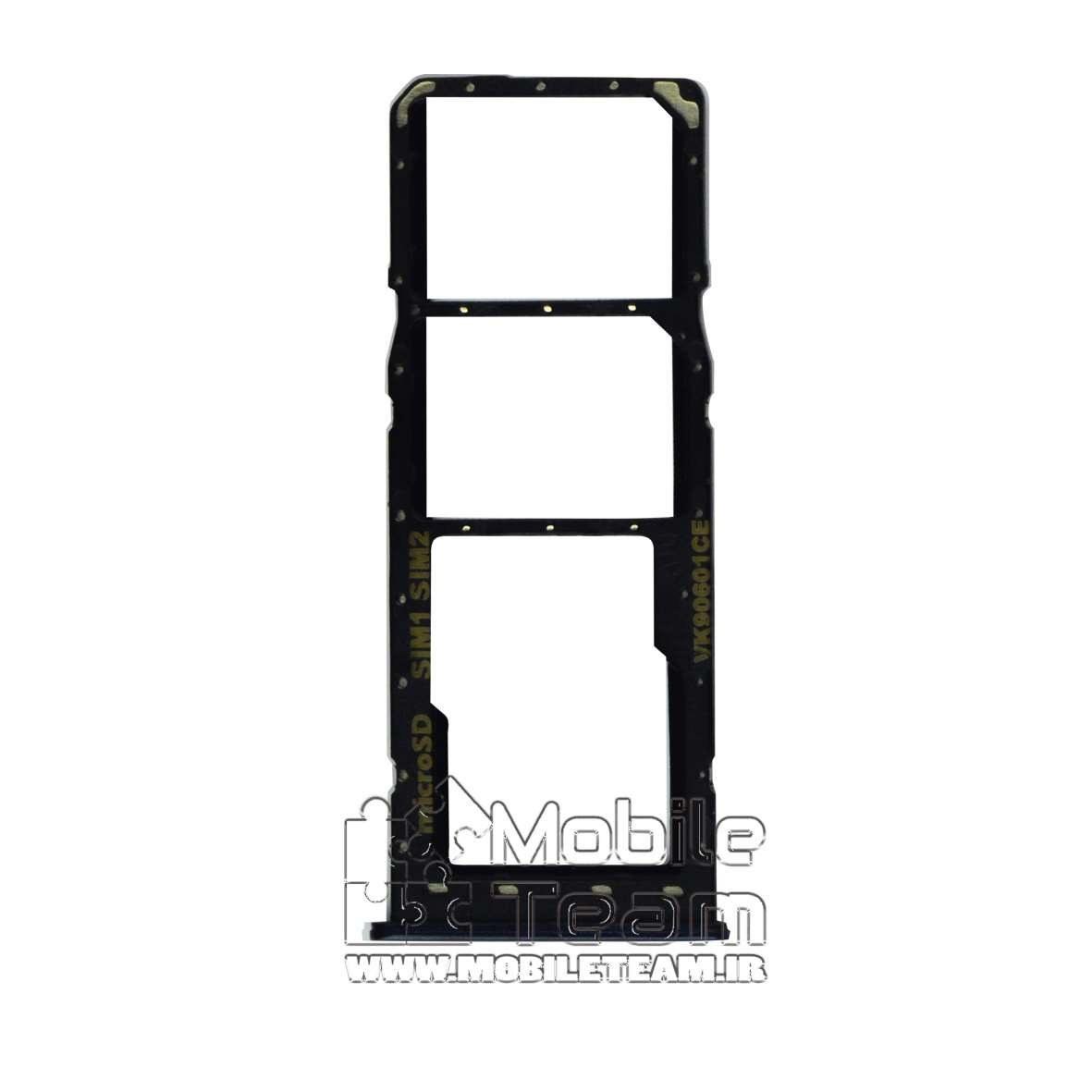 تصویر خشاب سیم کارت SIM HOLDER SAMSUNG A10S-A107-A20S-A207 BLACK-2SIM