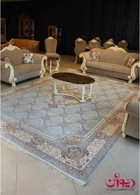 فرش ماشینی گل برجسته 1200 شانه|طرح گلچین