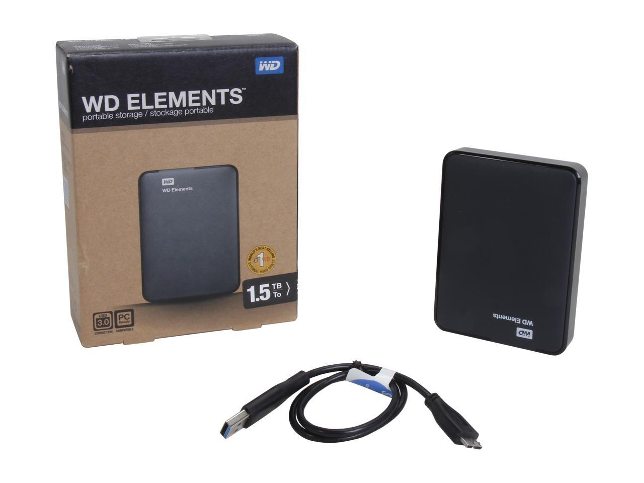 تصویر هارد اکسترنال وسترن دیجیتال مدل Element ظرفیت 320 گیگابایت Western Digital Elements External Hard Drive - 320GB