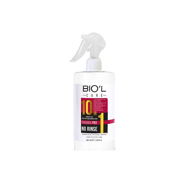 تصویر اسپری نرم کننده مو بیول مدل ۱۰در۱بدون آبکشیBiol Hair Conditioner Spray Model 10 In 1 Without Rinsing 400 Ml