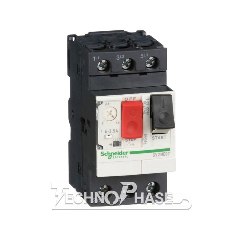 تصویر کلید حرارتی (محافظ موتور) اشنایدر مدل GV2ME16 رنج تنظیم: 14-9