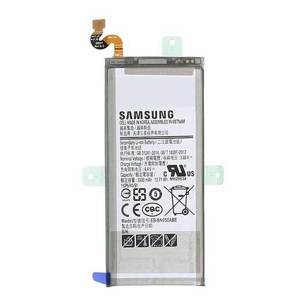 تصویر باتری موبایل EB-BN950ABE ظرفیت 3300 میلی آمپر ساعت مناسب برای گوشی موبایل سامسونگ Galaxy Note 8 EB-BN950ABE 3300mAh Mobile Phone Battery For Samsung Galaxy Note 8