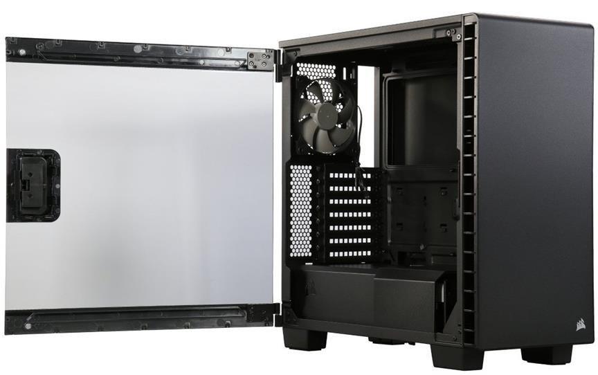 تصویر کیس کورسیر مدل کارباید 400 سی کامپکت کیس Case کورسیر Carbide 400C Compact ATX MID-Tower Case