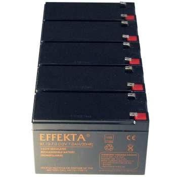 باتری یو پی اس 12 ولت 7 آمپر افکتا مدل BT بسته 5 عددی |