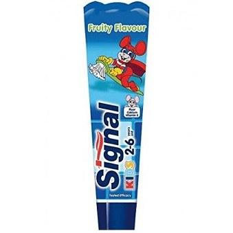 خمیر دندان آبی میوه ای کودک سیگنال 50 میلی لیتر