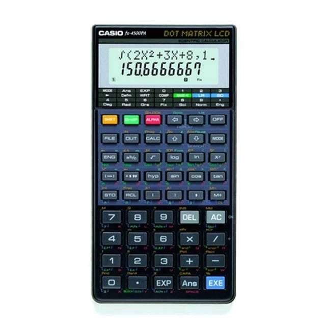 ماشین حساب کاسیو مدل  Fx-4500PA  به همراه راهنمای فارسی | Casio Fx-4500PA Calculator With Persian Guide