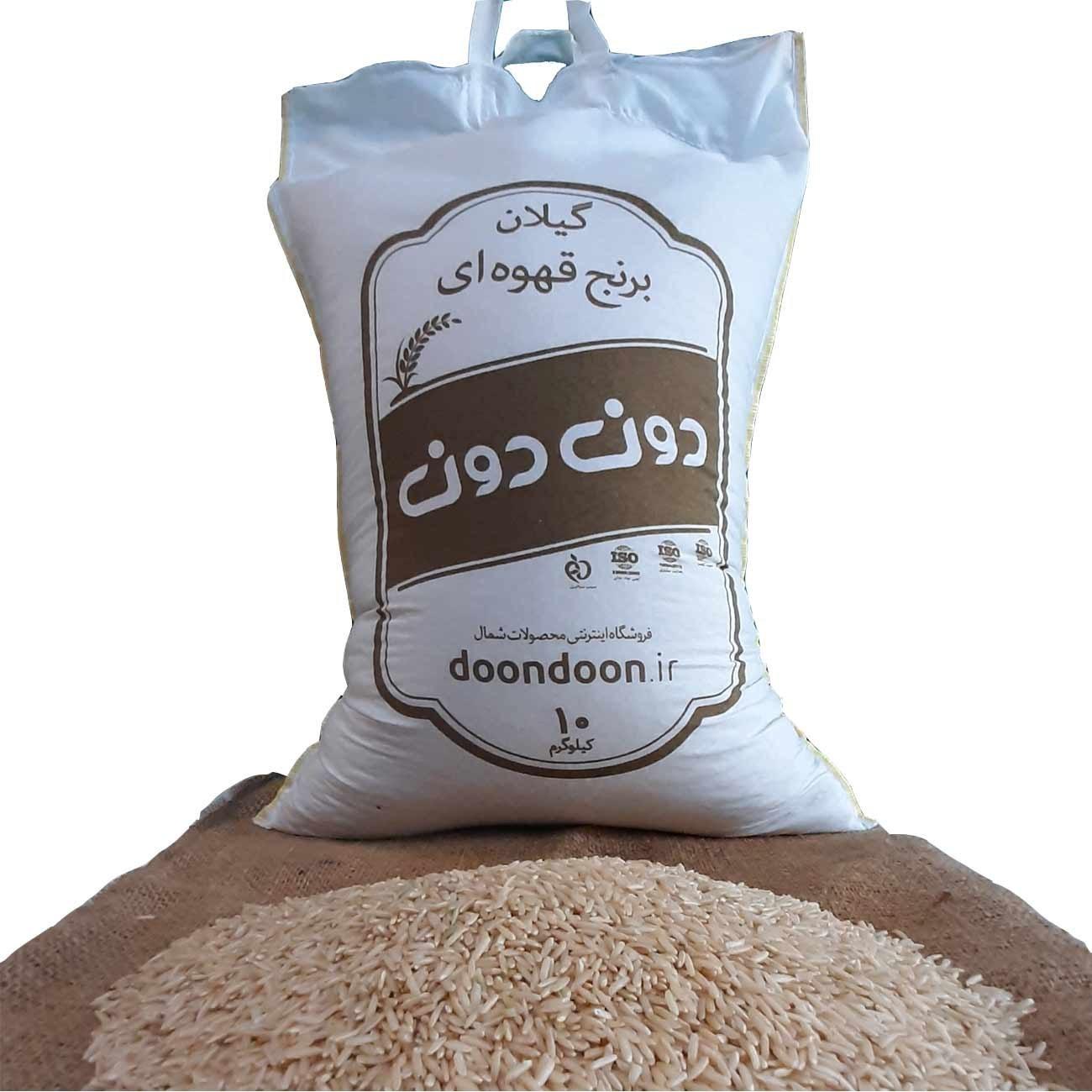 تصویر برنج قهوه ای هاشمی 10 کیلو گرمی