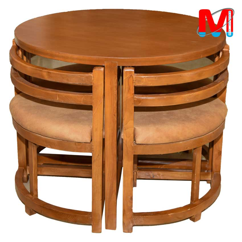 میز ناهار خوری کمجا چوب راش