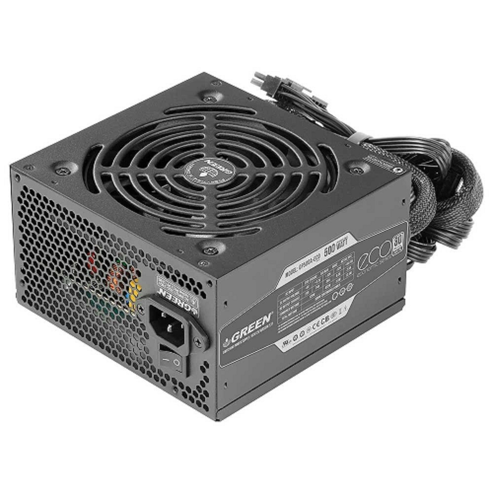 main images منبع تغذیه کامپیوتر گرین مدل GP500A-ECO Rev3.1 GREEN GP500A-ECO Rev3.1 500W Power Supply