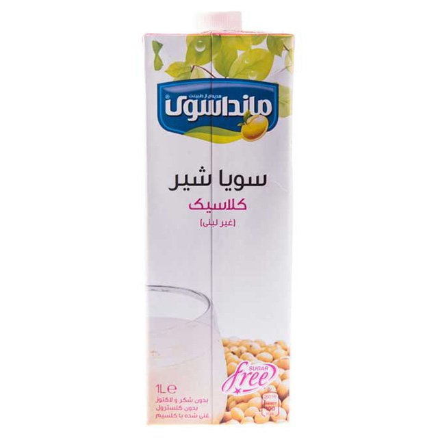 تصویر سویا شیر کلاسیک مانداسوی ۱ لیتری -