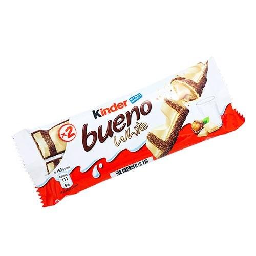تصویر شکلات کیندر بوینو سفید 43 گرمی  kinder white bueno 43g