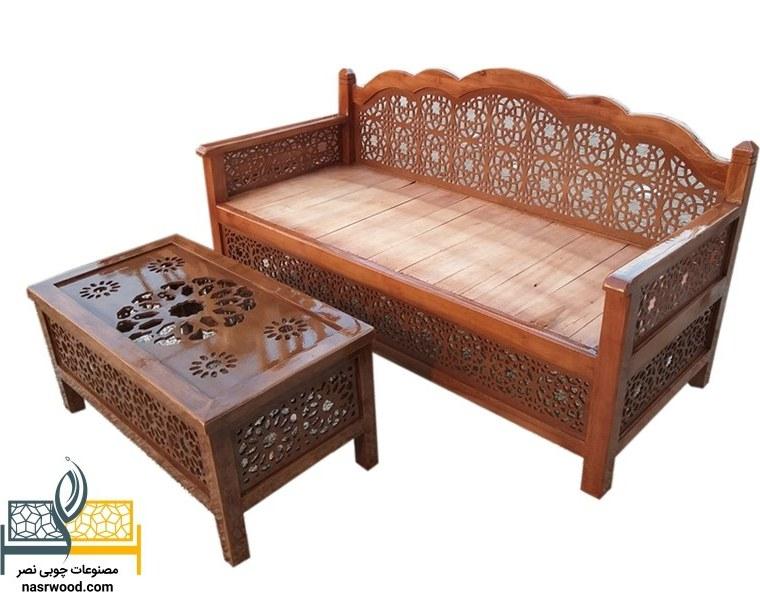 تصویر ست میز و تخت سنتی nasr12nm