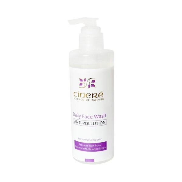 تصویر ژل شستشوی صورت ضد آلودگی هوای پوست های معمولی تا خشک سینره Cinere Normal To Dry Skin Face Wash Gel