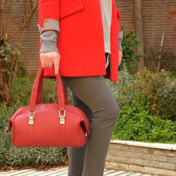 کیف دستی زنانه پارینه چرم مدل V199