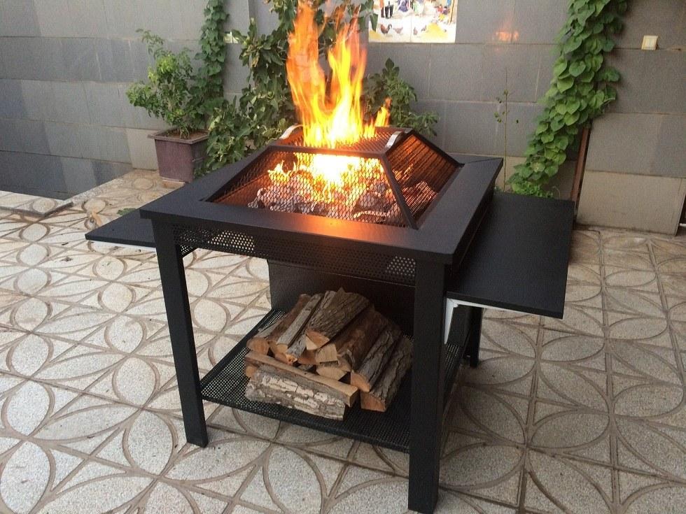 تصویر آتشدان هیزمی سوز و چوب سوز تیپ۳ مربع