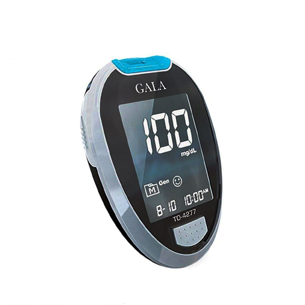 تصویر دستگاه تست قند خون گالا مدل TD4277 به همراه یک بسته نوار 50 عددی Gala TD4277 Blood Glucose Meter whit Test Strips pack of 50