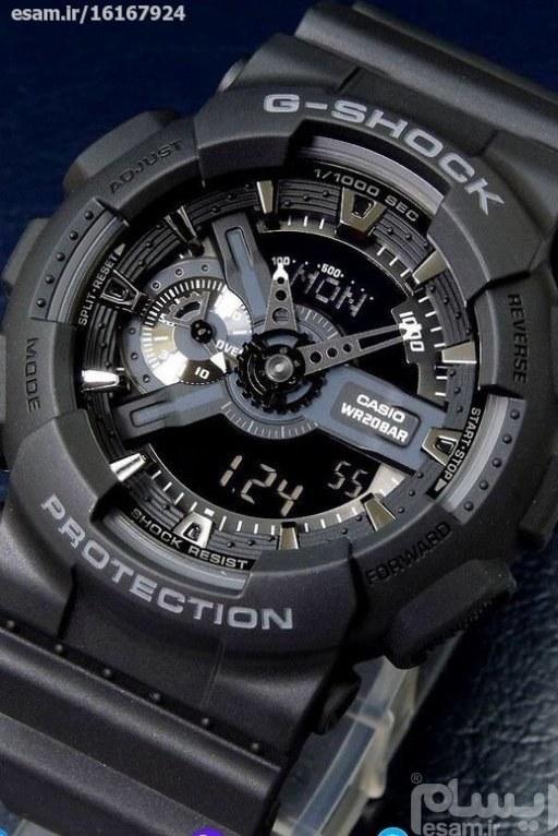 فروش آنلاین ساعت مچی دو زمانه جی شاک ورزشی اسپورت GSHOCK | ساعت جی شاک عقربه  ای مدل G-Shock GA-110 درجه یک