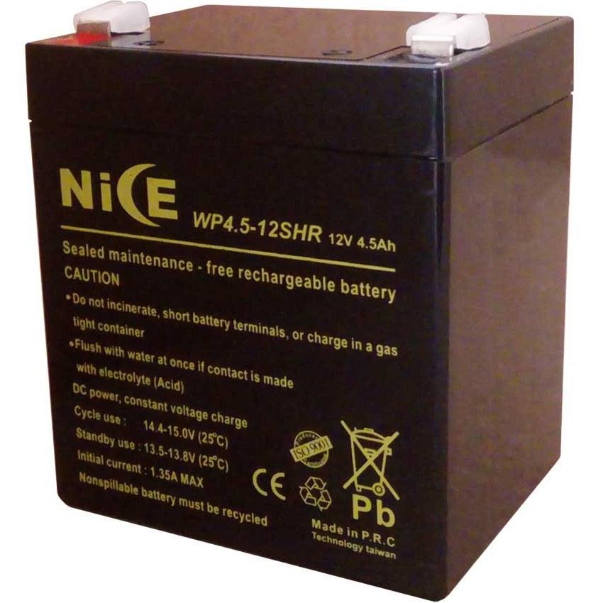باطری سیلداسید 12 ولت 4.5 آمپر NICE مدل WP4.5-12SHR |