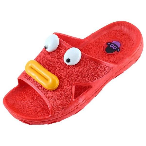 دمپایی بچگانه پاپا مدل اردک رنگ قرمز