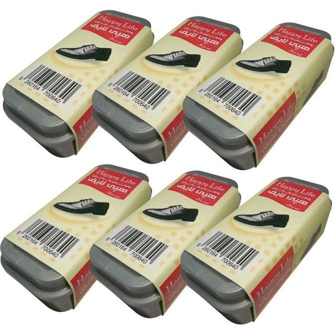 تصویر واکس کفش هپی لایف کد B-6 بسته 6 عددی