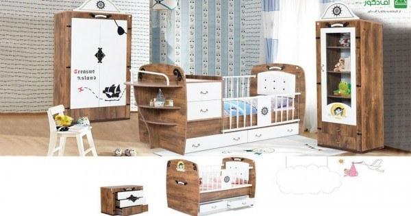 تصویر تخت خواب نوزاد نوجوان وکتور