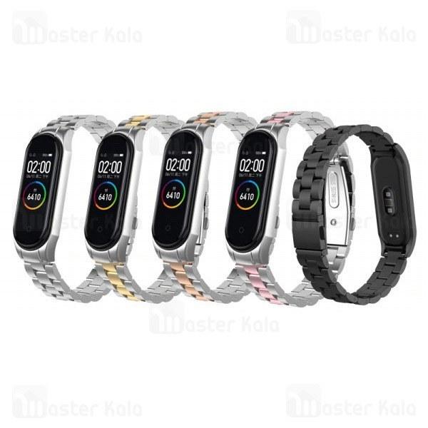 بند فلزی دستبند سلامتی شیائومی Xiaomi Mi Band 4 Race Metal Strap