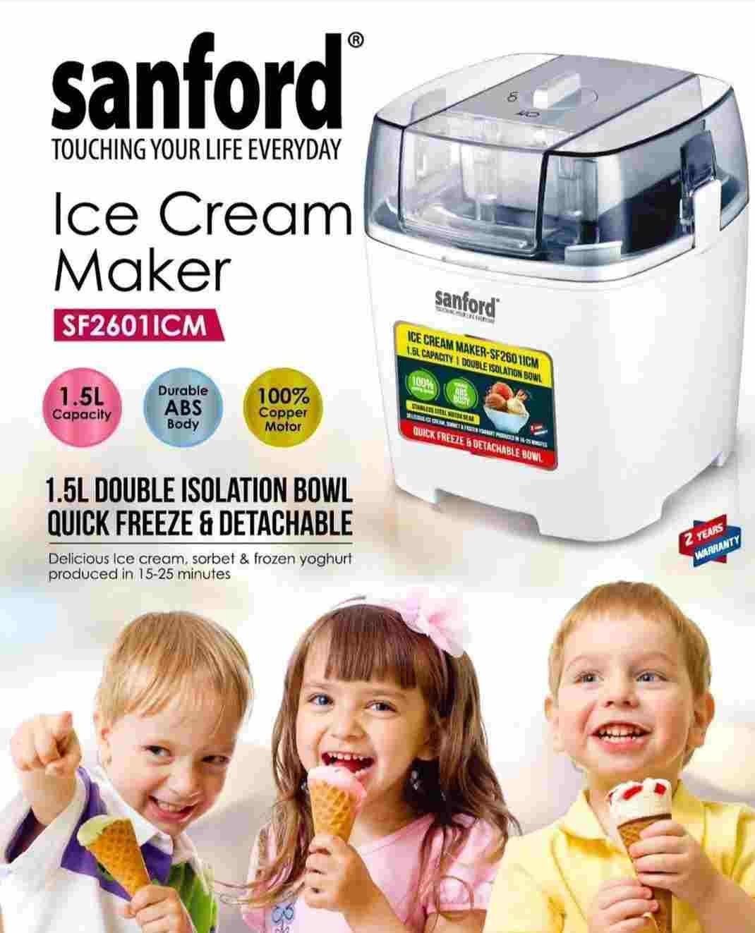 تصویر بستنی ساز خانگی سنفورد مدل 2601
