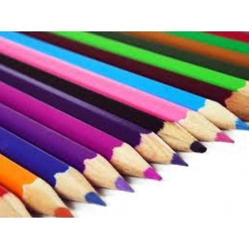 مداد رنگی 12 رنگ جعبه مقوایی اینوکس-نوشت افزار-Made-in-china |