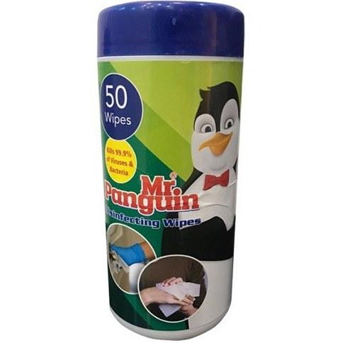 تصویر دستمال مرطوب برند مستر پنگوئن بسته 50 عددی