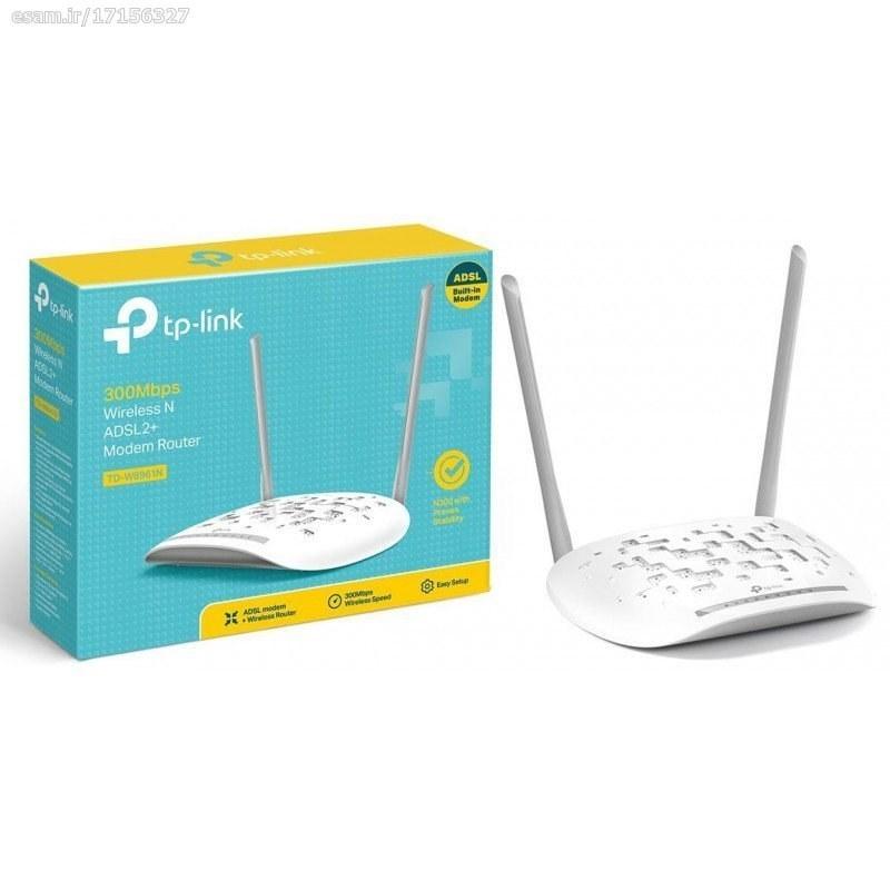 عکس مودم روتر ADSL2 Plus بیسیم N300 تی پی-لینک مدل TD-W8961N TP-LINK TD-W8961N(EU) Ver 3.20 مودم-روتر-adsl2-plus-بی-سیم-n300-تی-پی-لینک-مدل-td-w8961n